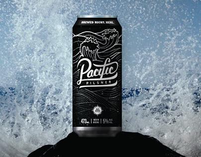 Pacific Pilsner | Beer Label