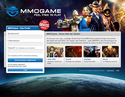 MMOGame Community Page - UX / UI Design