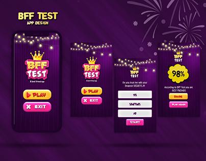 BFF Test Questionnaire App