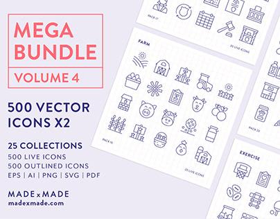 Line Icons – Mega Bundle Volume 4
