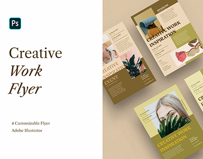 Creative Work Flyer Templates in A4 size