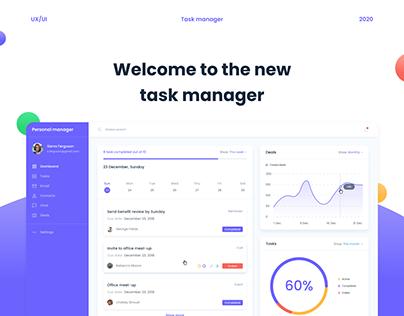 Task manager platform UX/UI