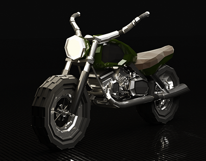 Motorcycle LowPoly