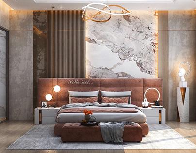 Modern Master bedroom design in kSA