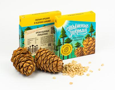 """Дизайн упаковки орехов """"Таёжные закрома"""""""