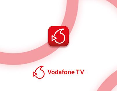 Vodafone TV   App Logo Design