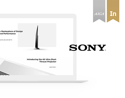 Sony Website Redesign Concept