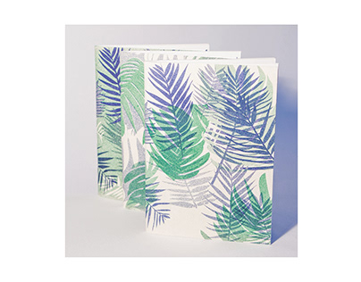 Tropical Risograph Notebook