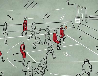 Turkish National Basketball Team Support Animation