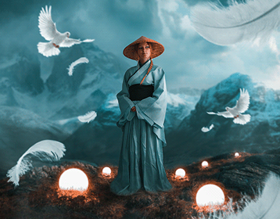 Meditation Mountain |Photoshop Manipulation