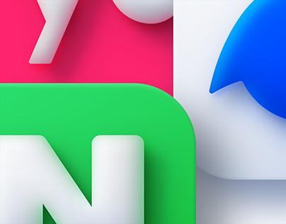 Neumorphism icons
