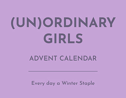 Unordinary Girls Advent Calendar