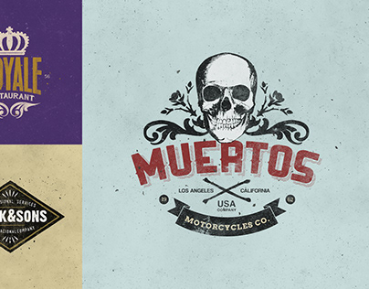 Retro Logo Templates V.09