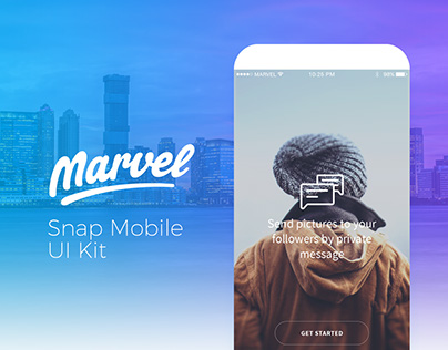 Snap - UI Mobile Kit for Marvel