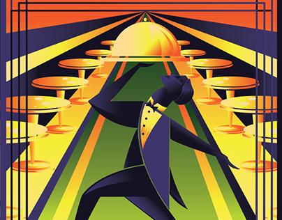 Gatsby Restaurant Logo and Poster