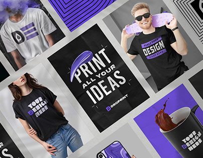 DROPRINT | Logo, Brand & Packaging Concept