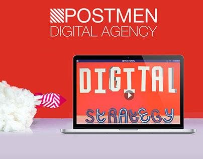 Interactive website for Postmen DA