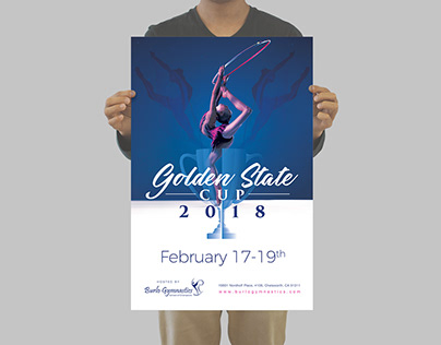 Poster design for a gymnastics competition