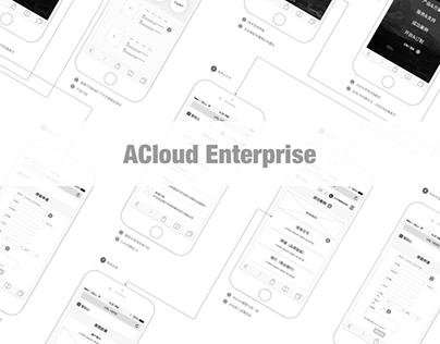 ACloud Enterprise Wireframe