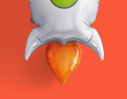 Concept design for Rocketbank
