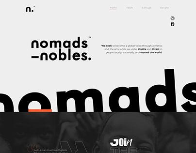 Web Design - nomads&nobles