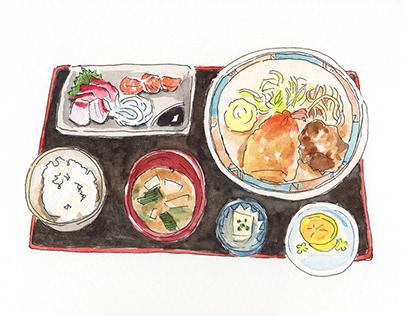 Food illustration, Kyushu, Japan