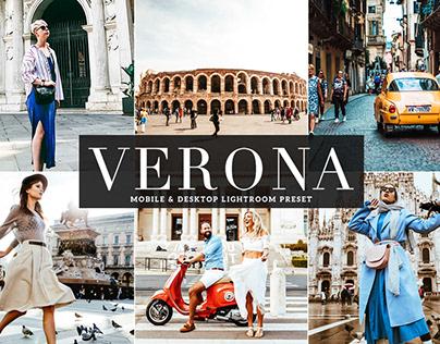 Free Verona Mobile & Desktop Lightroom Preset