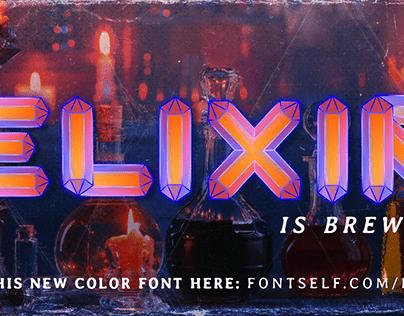 ELIXIR | Color Display Typeface