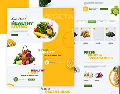 Grocery Shopping Website Design