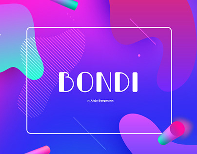 BONDI - FREE ALL CAPS DISPLAY FONT