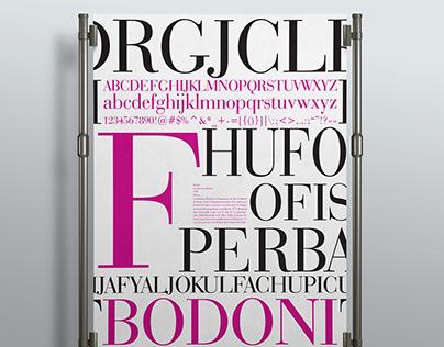 Bodoni Font Poster