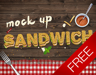 Free - Sandwich text mock-up