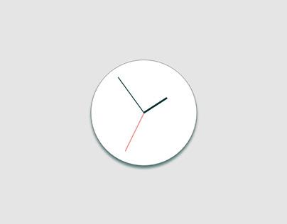 Clock Mobile App UI Design