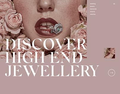 Jared Luxury Jewelry Website Redesign Concept