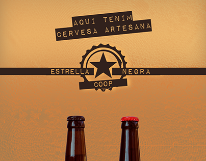 Poster and trifold design for Estrella Negra Coop