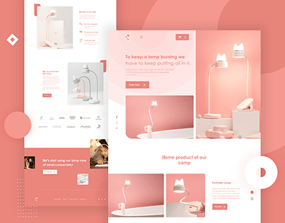 Lamp Product Landing Page