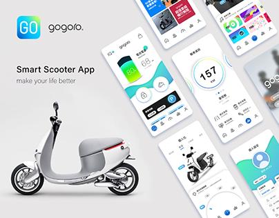 Gogoro smart scooter App Design UI UX