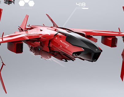 F-418 R spaceship