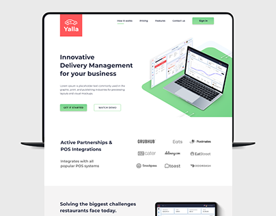 Yalla Delivery SaaS Company Website Design