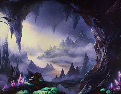 Dark Cave — Key Art Illustration