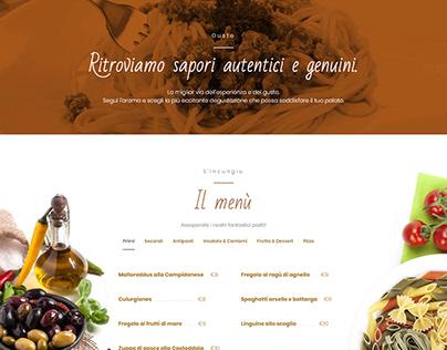 S'Incungiu Restaurant | Web Design - Landing Page