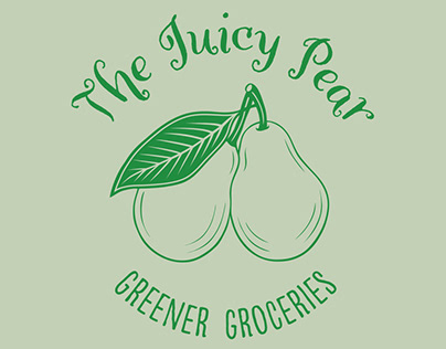 The Juicy Pear – Green Greengrocers Branding