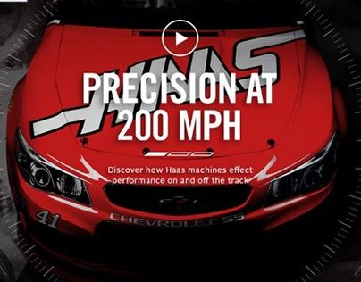 HAAS Automotive Motorsports - Website Concept