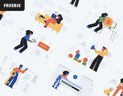 Free Download: Unruly Landing Page Illustrations