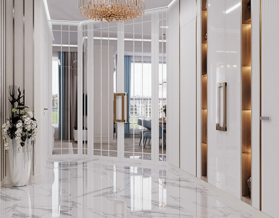 "Hall in ""Krestovsky De Luxe"" residential complex"