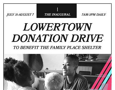 The Inaugural Lowertown Donation Drive