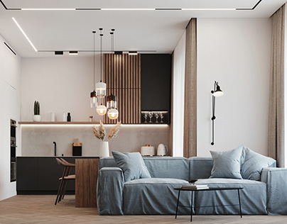 Minimalistic flat, Moscow