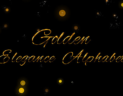 Golden Elegance Alphabet
