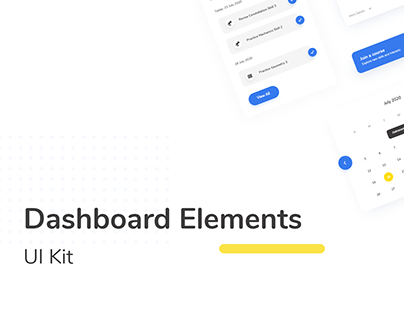 Dashboard Elements UI Kit