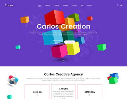 Carlos - Creative Agency Template
